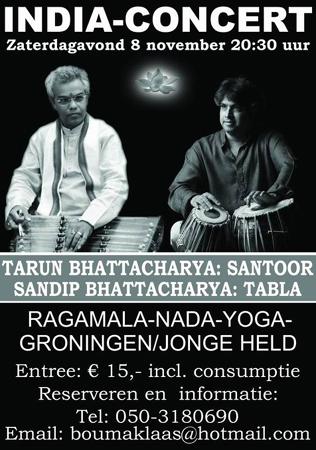 Concertposter Tarun Bhattacharya en Sandip Bhattacharya